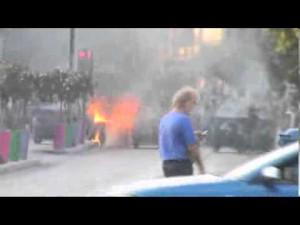 Protestas Peristeri autobús