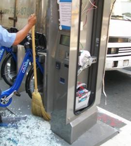 Foto sabotaje citybike NY