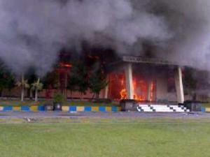 Incendio escuela policía Indonesia