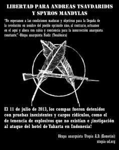 Cartel Solidaridad Detenidos Tesalónica