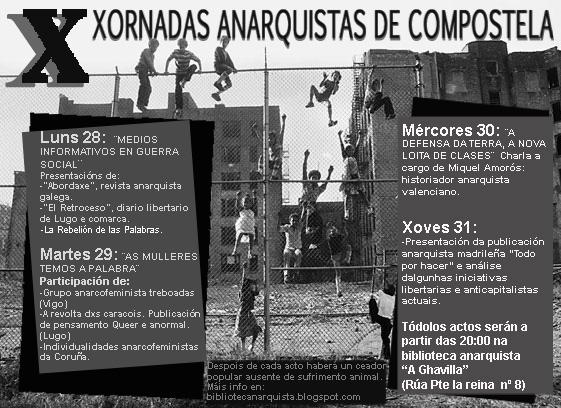 Cartel Xornadas Anarquistas Compos