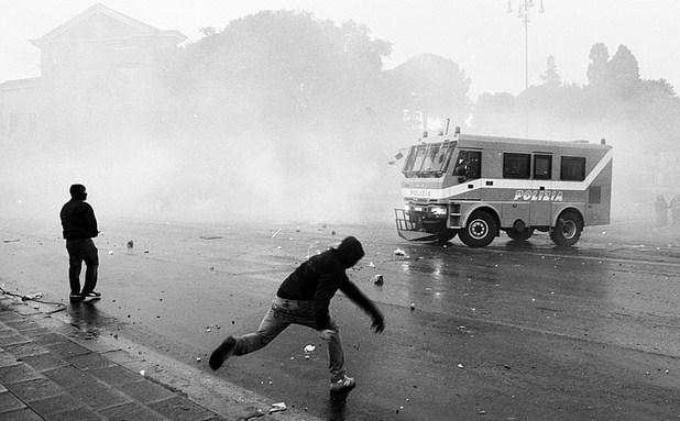 Roma Disturbios 15-O
