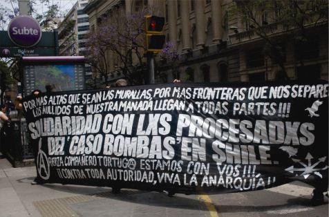 Pancarta Caso Bombas