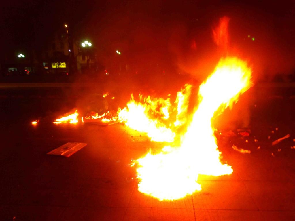 Barricadas Chile solidaridad presxs