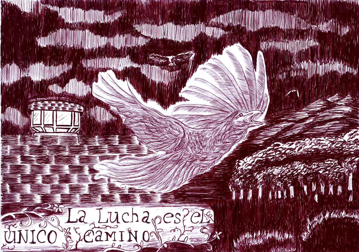 DIbujo Moniquita para Semana Solidaridad Caso Security