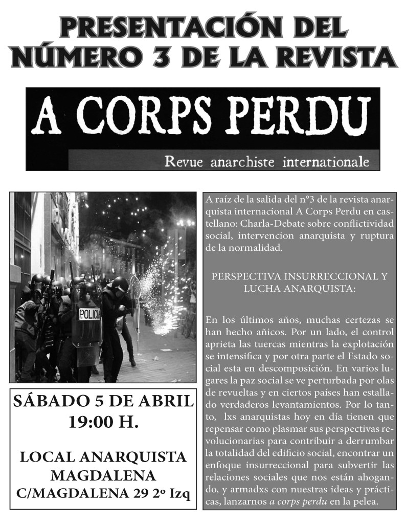 Presentación A Corps Perdú