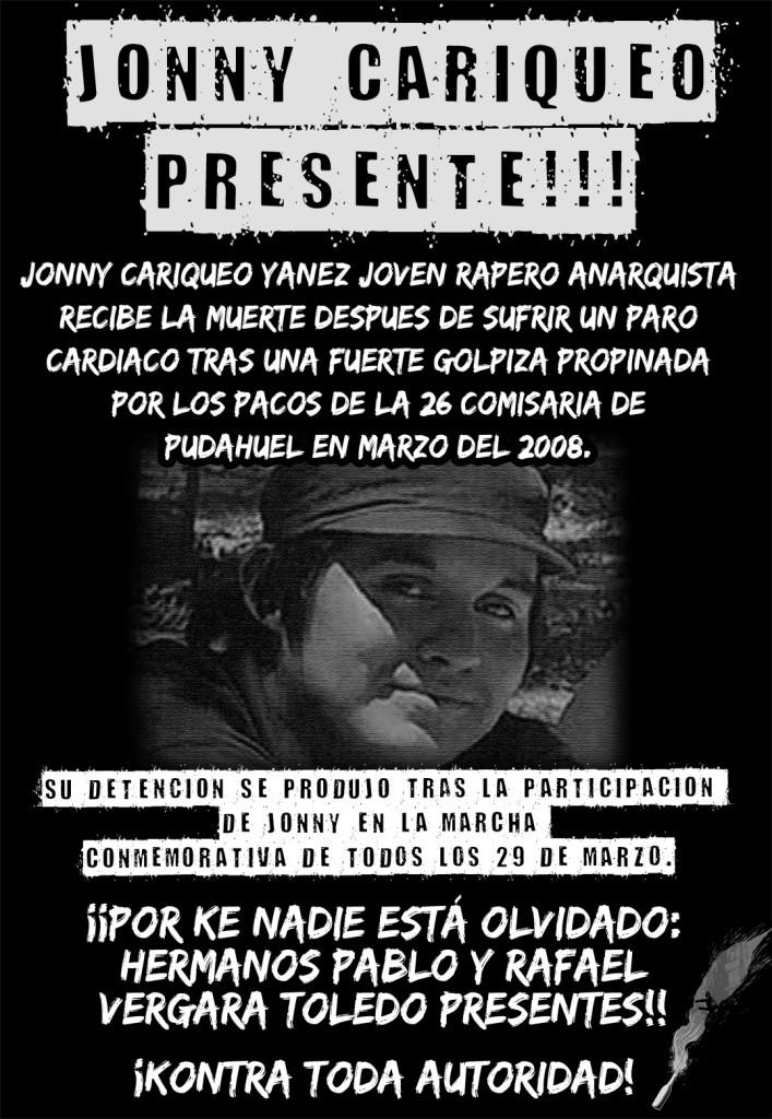 Cartel Jhonny Cariqueo