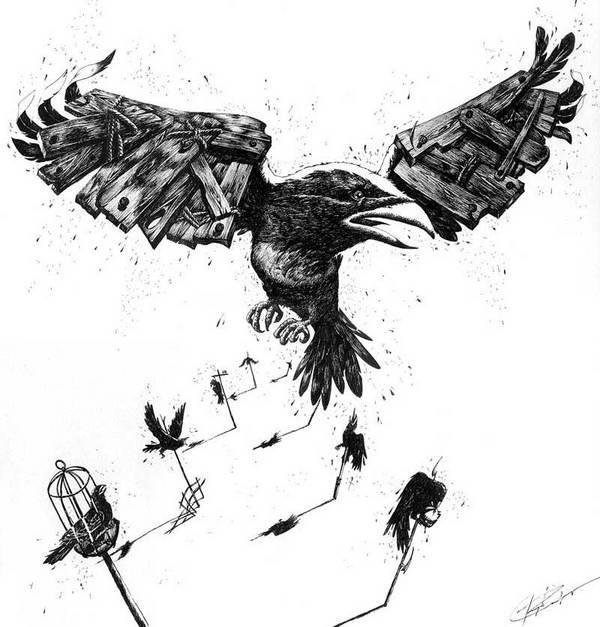 Cuervo vuelo