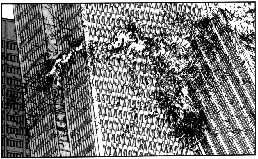 Akira - Ciudad se derrumba