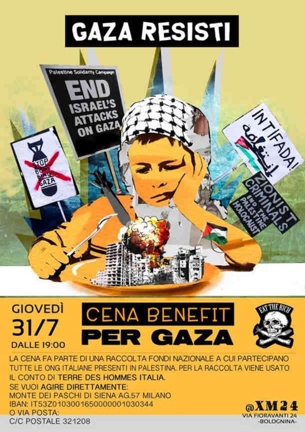 Cena solidaria Gaza