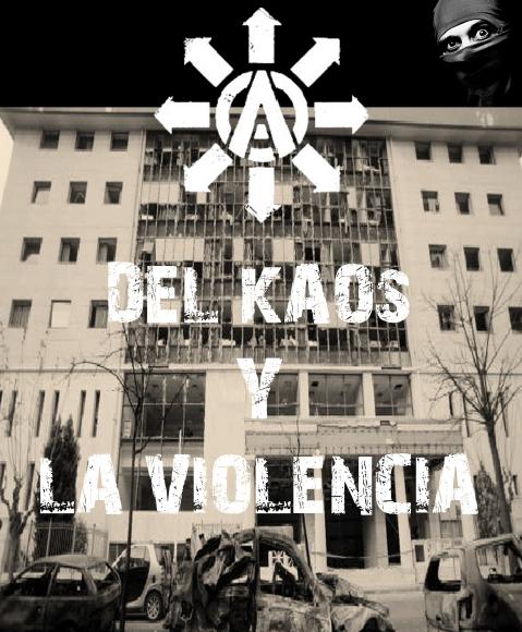Portada fanzine Kaos Violencia