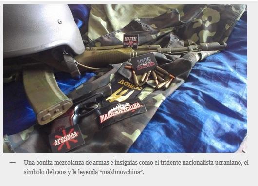 Ucranianos nazis usurpan imaxe mackhno 2