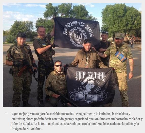 Ucranianos nazis usurpan imaxe mackhno
