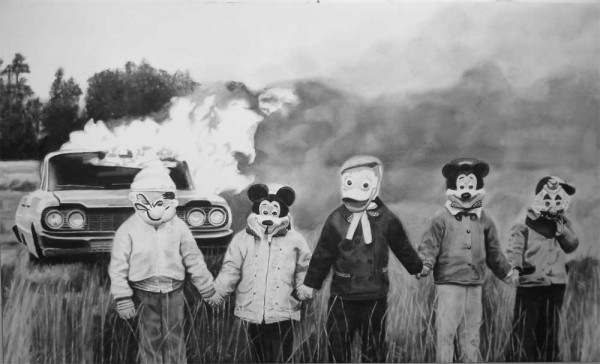 Mickey Mouse fuego