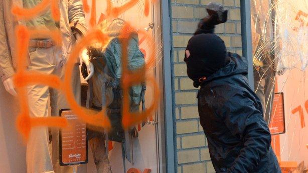 Disturbios Frankfurt 2