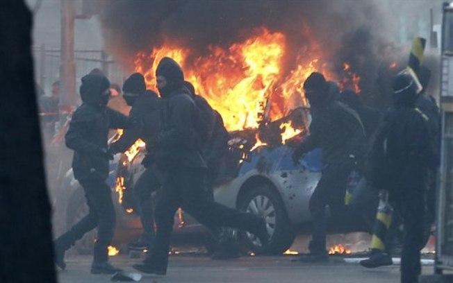Disturbios Frankfurt 3