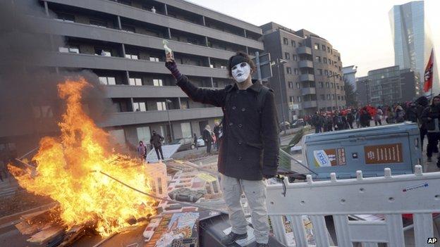 Disturbios Frankfurt 5