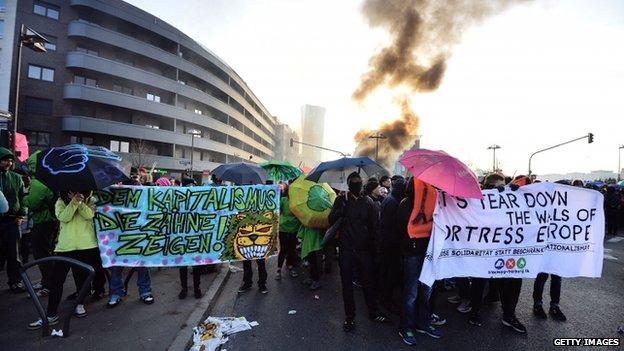 Disturbios Frankfurt 4