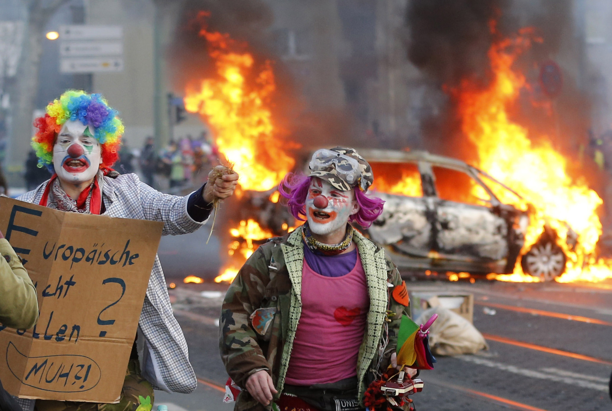 Disturbios Frankfurt