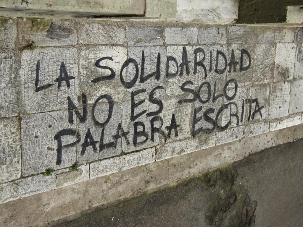 lasolidaridad no es solo palabra escrita