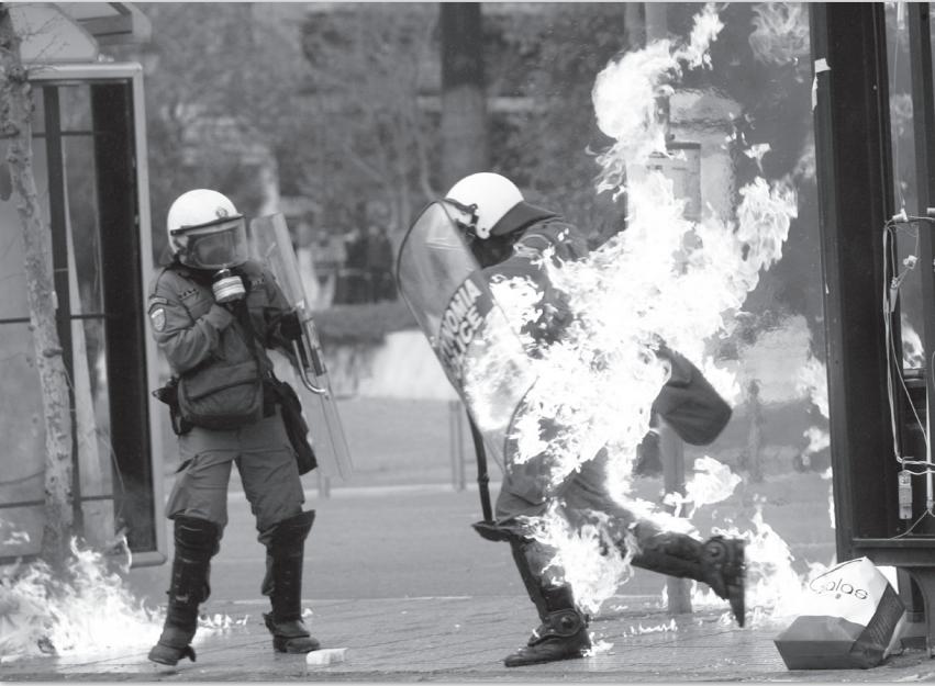 Maderos arden